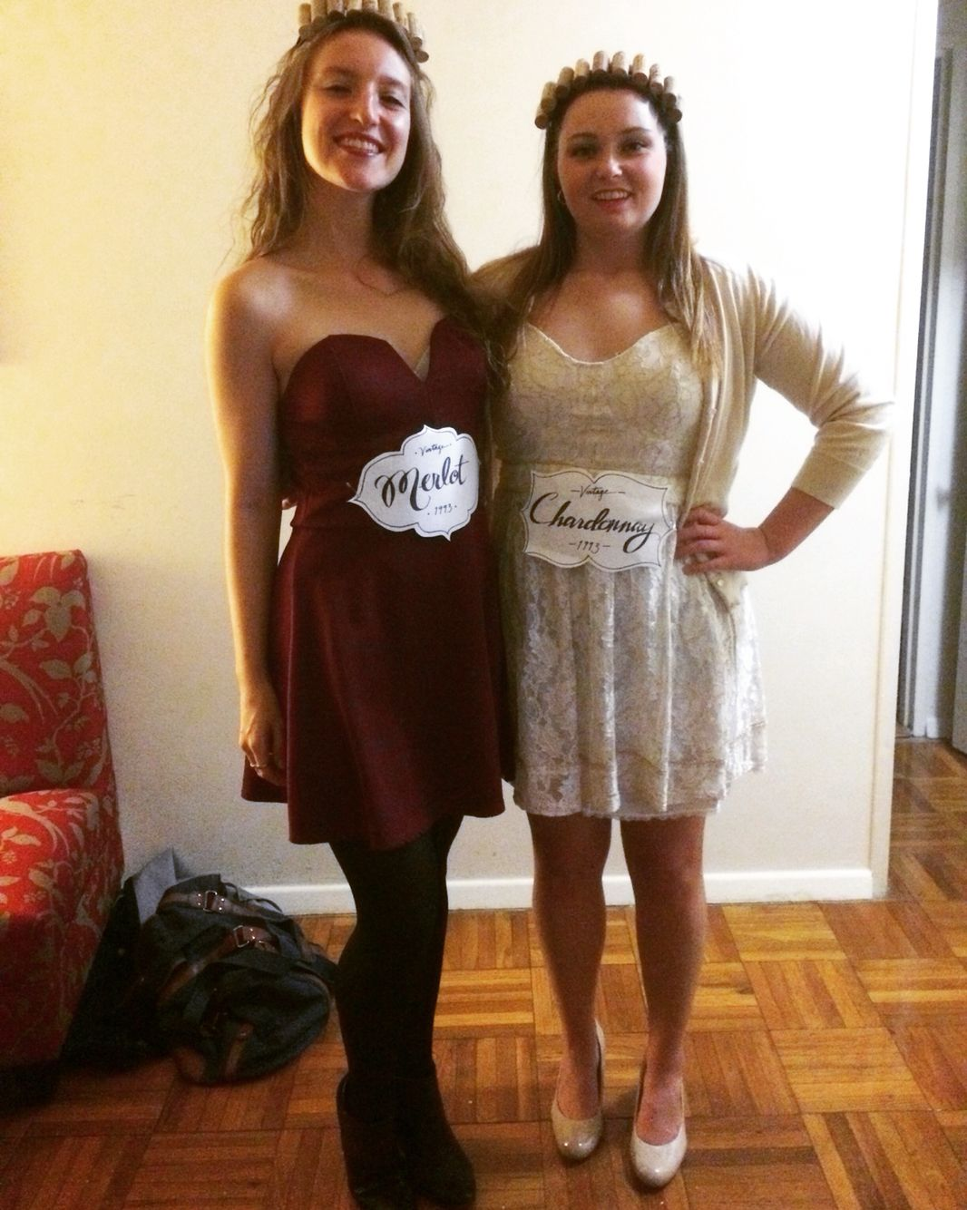 Roommate Halloween Costume - Red and white wine! | Healthyyyy ...