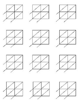 Lattice Multiplication: Blank forms for 2x2 and 2x3 multiplication ...
