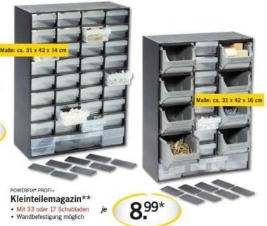 Lidl Aufbewahrung Angebot: Powerfix Profi Kleinteilemagazin ...