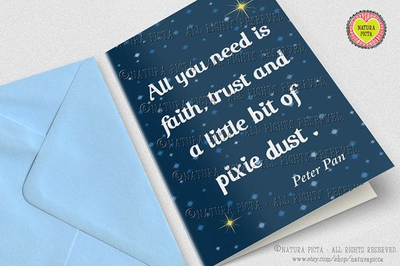 Peter Pan All you need is Pixie Dust Greeting Card by naturapicta, $3.99 © NATURA PICTA