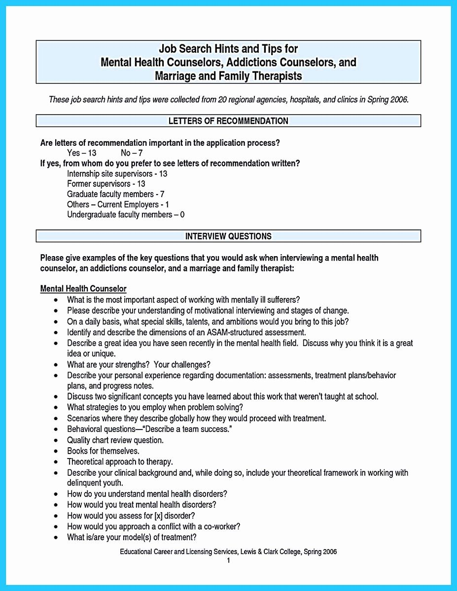 Behavioral Health Technician Resume New Outstanding Counseling Resume Examples To Get Approved