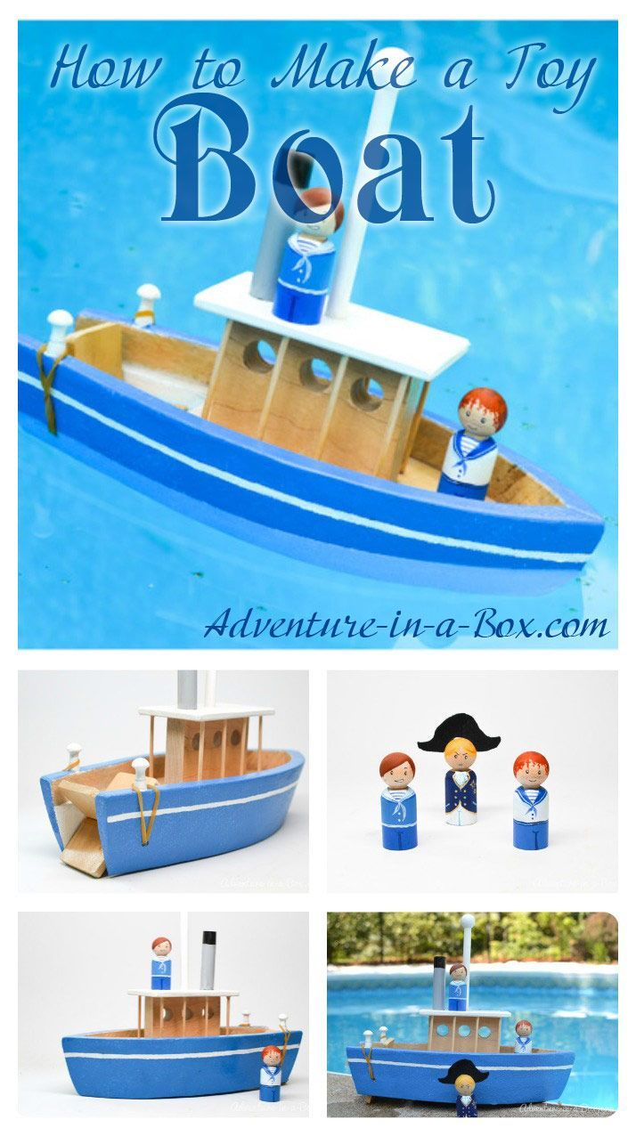 How to Make a Toy Paddle Boat | Fun diy, Summer fun and Boating