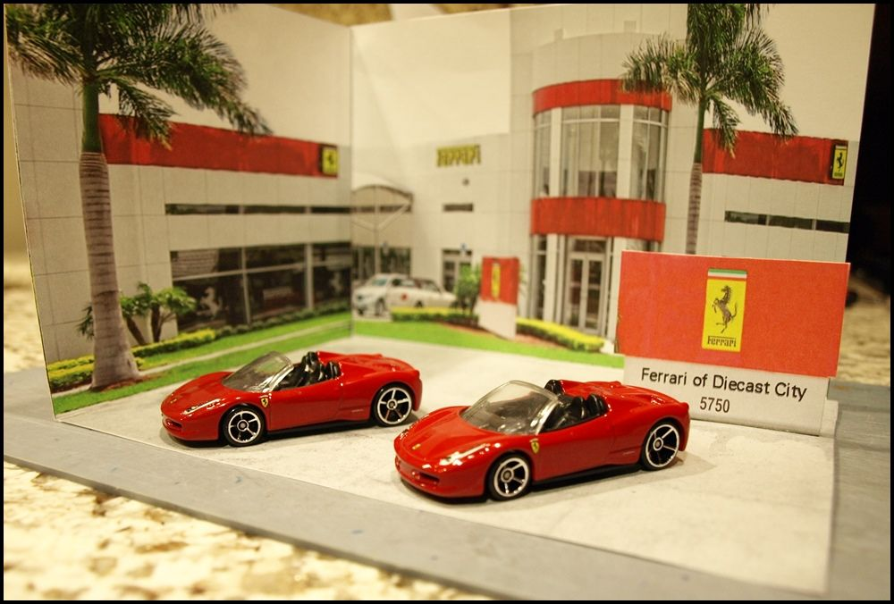 ferrari dealership dioramas for use with 1 87 or 1 64 scale die cast cars dealership dioramas. Black Bedroom Furniture Sets. Home Design Ideas
