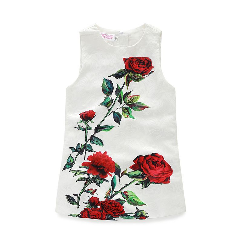 ba44a5ac9 Click to Buy    Fashion design White Sleeveless Baby girls flowers ...