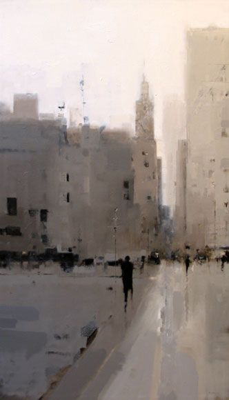 Left of TV Geoffrey Johnson - City Buildings Gray