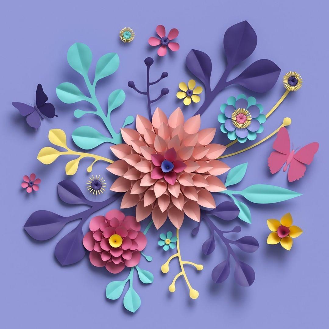 Le Printemps Saison Des Amours Et De La Creation Son Arrivee Vous A Inspire On Veut Voir Vos œuvres Paper Flowers Diy Paper Flowers Paper Flowers Craft