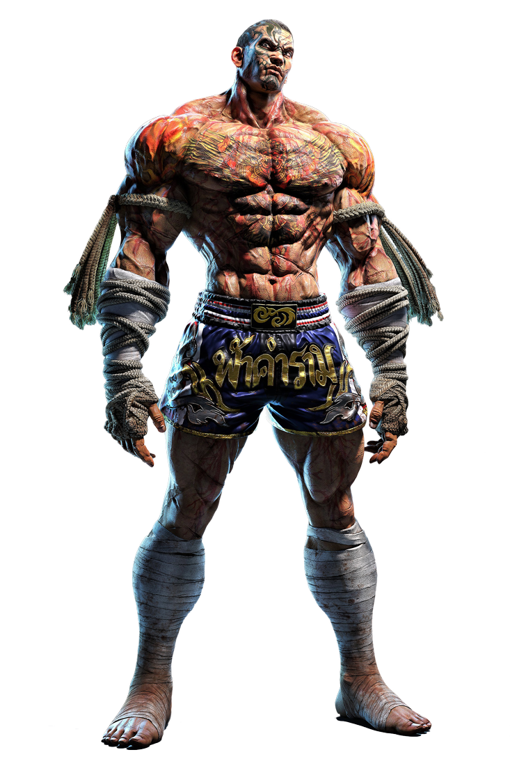 Fahkumram T7 Transparent High Res Render By Vgejackler On Deviantart In 2020 Tekken 7 Rendering Street Fighter