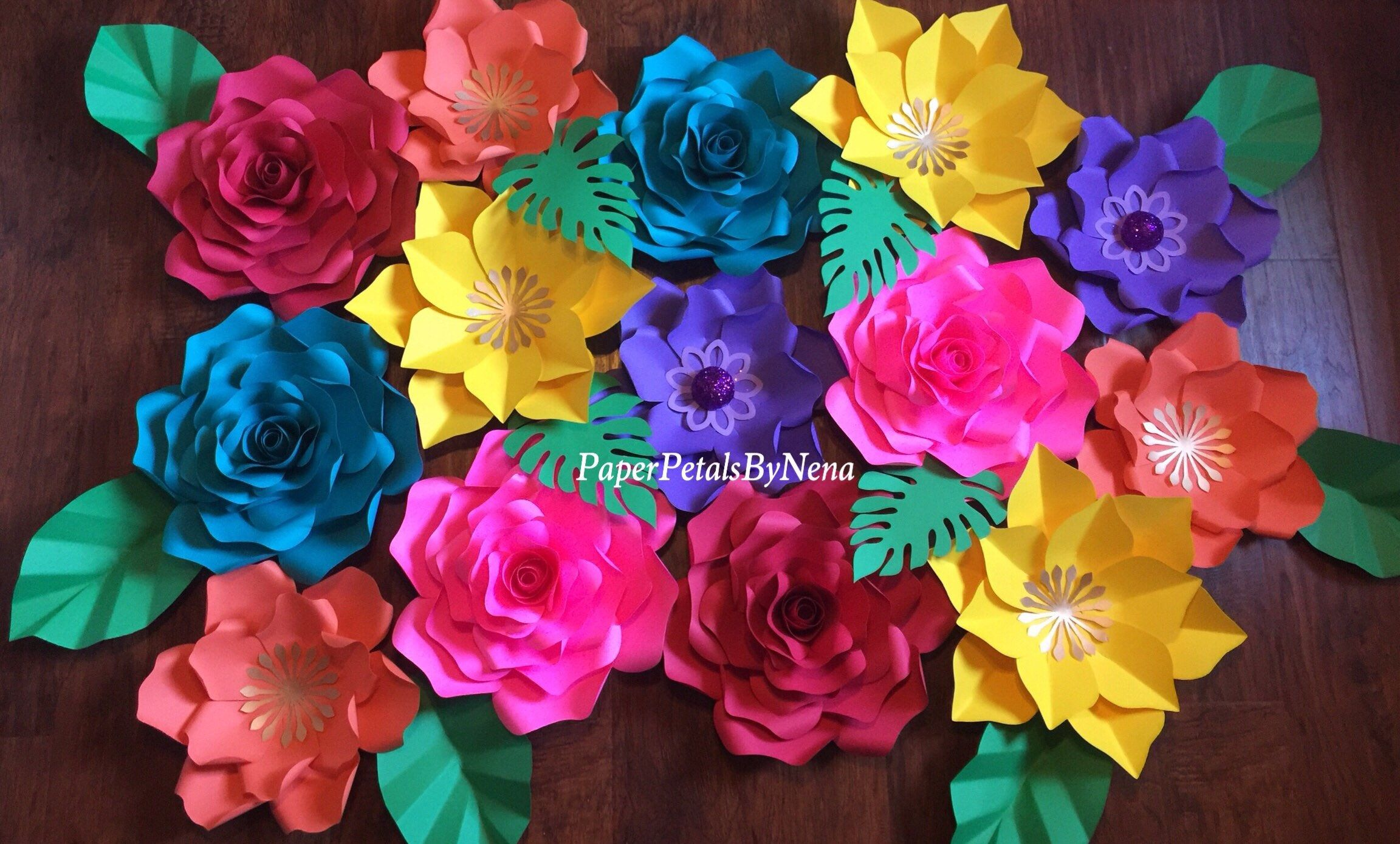 Fiesta paper flowers fiesta flower backdrop fiesta birthday