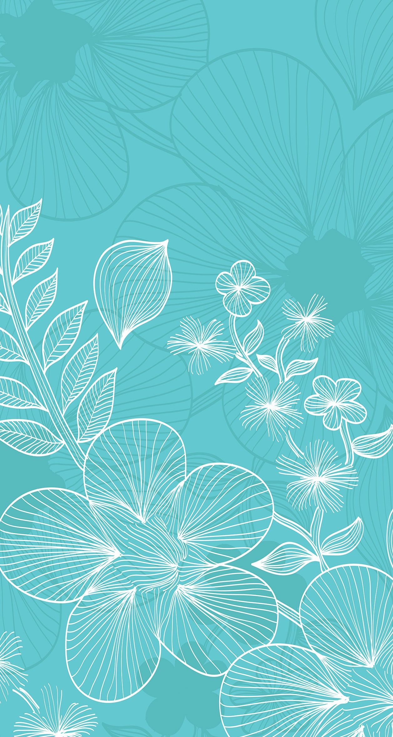 Blue Aqua Flower S8 Wallpaper Mint Green Wallpaper Iphone