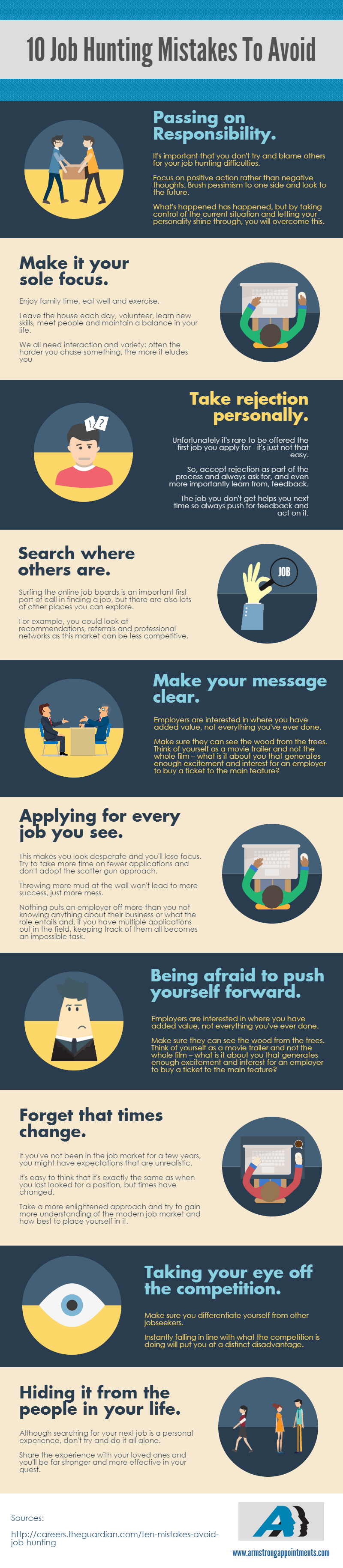 Top Job Hunting Mistakes You Must Avoid [INFOGRAPHIC]  Http://theundercoverrecruiter.