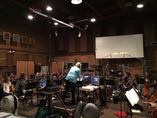 More pics from the score recording @FiftyShades #DannyElfman via @scorecordist