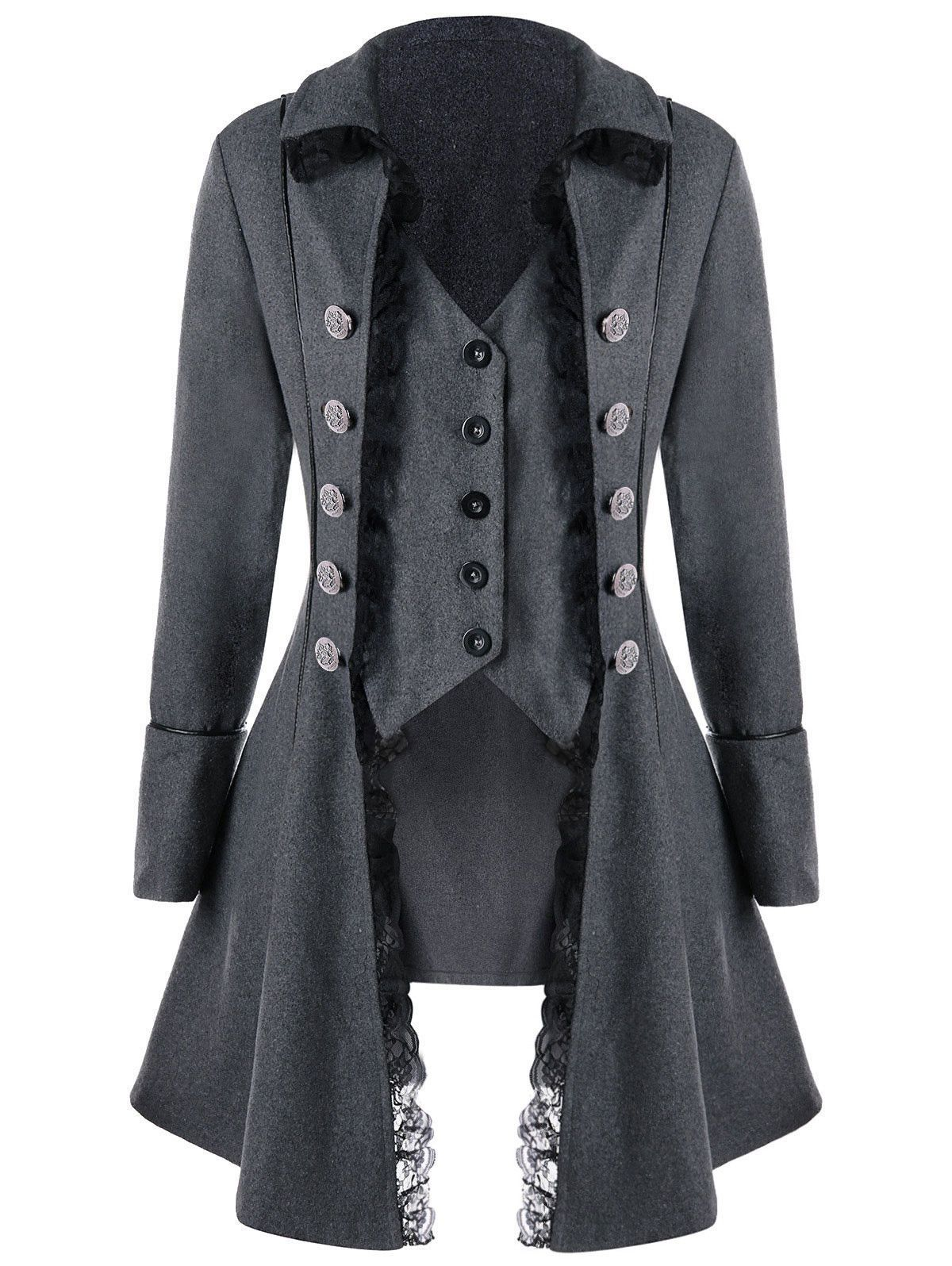 e51fae9a4c78 Womens Victorian Steampunk Gothic Coat Retro Tailcoat Button Up cosplay  Jacket | eBay