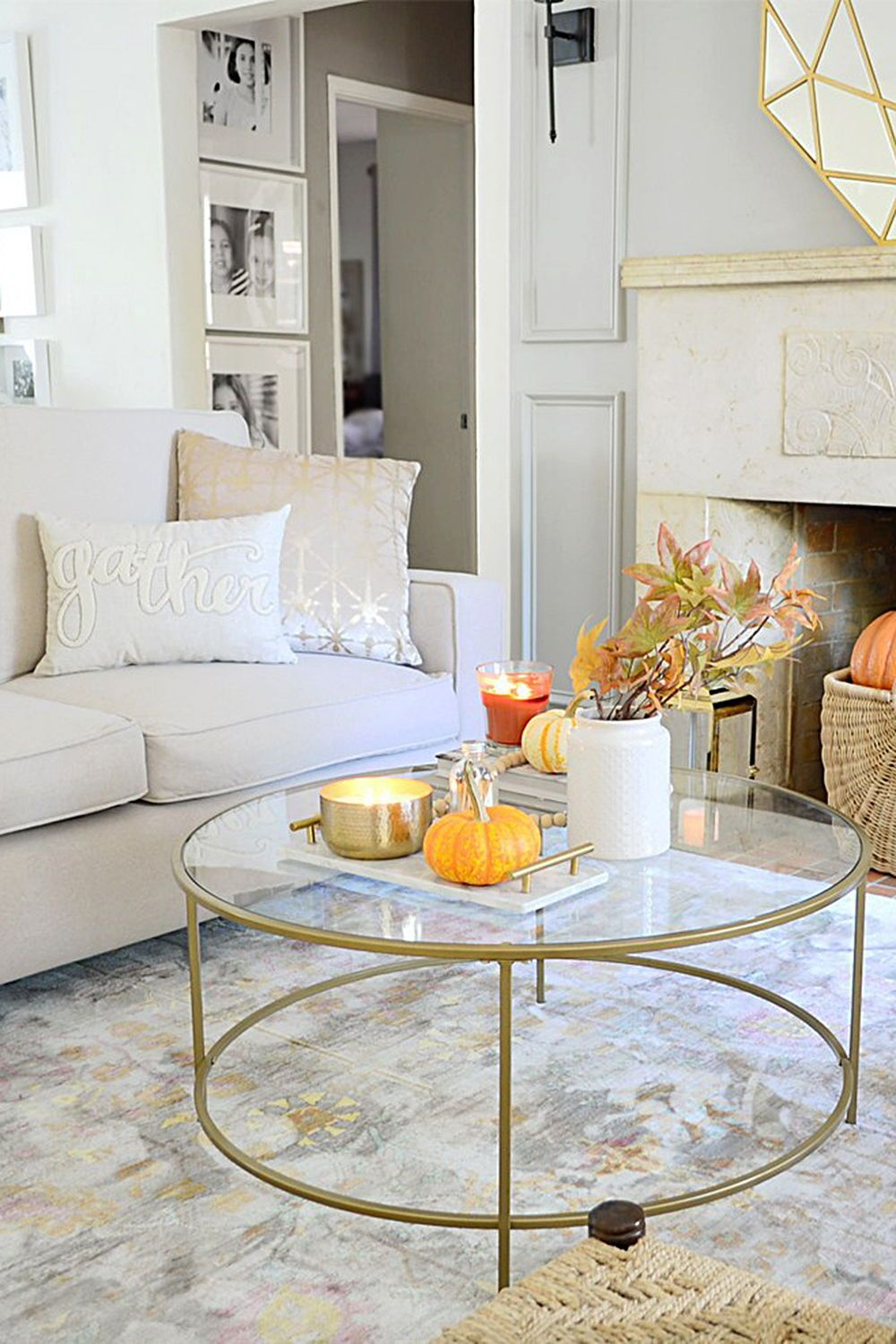 Better Homes & Gardens Nola Coffee Table, Gold Finish - Walmart.com | Affordable Living Rooms, Room, Coffee Table
