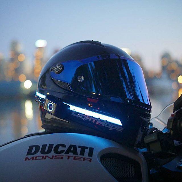 helmet lights how to light up your helmet like tron motorcycle