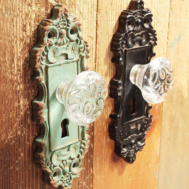 Photo of Mediterranean Wall Mounted Door Handles European Antique Wooden Door Handles Vintage American Garden Door Handles