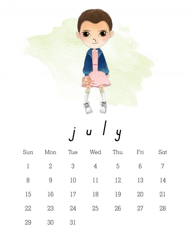 Calendario Stranger Things.Free Printable 2018 Stranger Things Calendar Organization