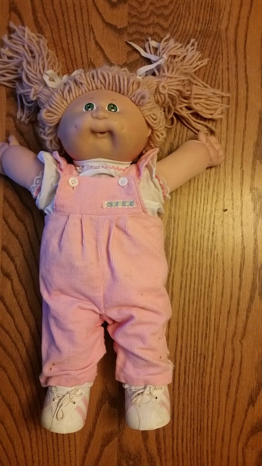 Vintage 1978 1982 Cabbage Patch Doll Yellow Hair Blue Eyes Pink Overalls Ebay Cabbage Patch Kids Costume Cabbage Patch Kids Clothes Cabbage Patch Dolls