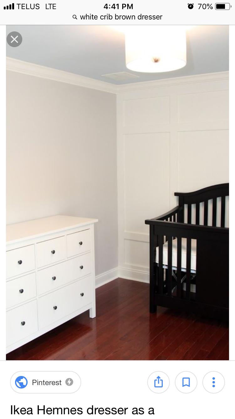 Pin By Iraida Romero On Nursery Black Crib White Dresser