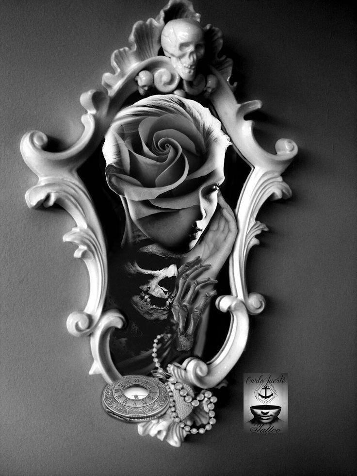 realistic tattoo hiper rialismo tattoo tattoo flash tattoo idea digital work tattoo death. Black Bedroom Furniture Sets. Home Design Ideas