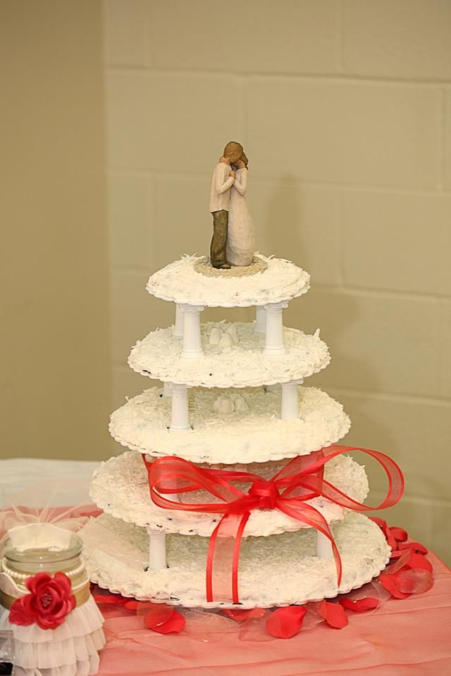Willow tree cake topper, chocolate chip cookie wedding cake ...