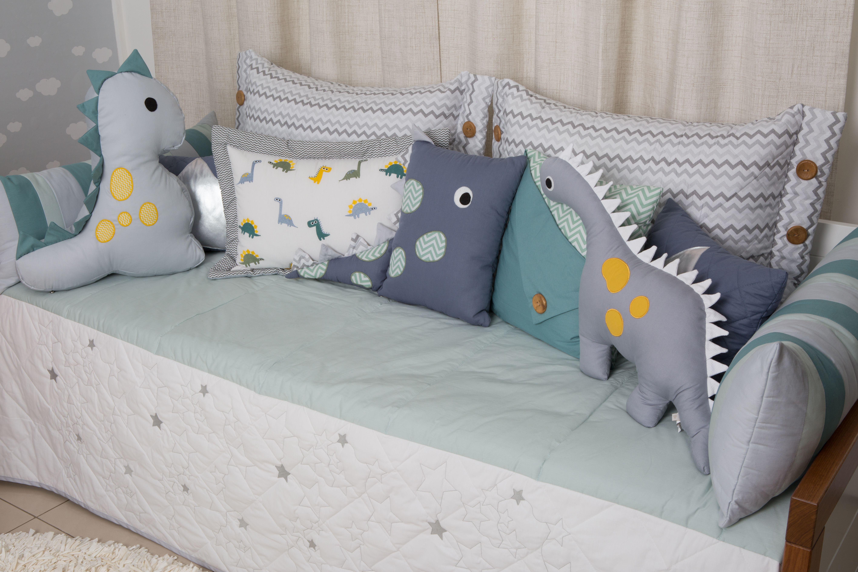 b84e521e21 O Kit cama babá da Coleção Dino da Biah Baby
