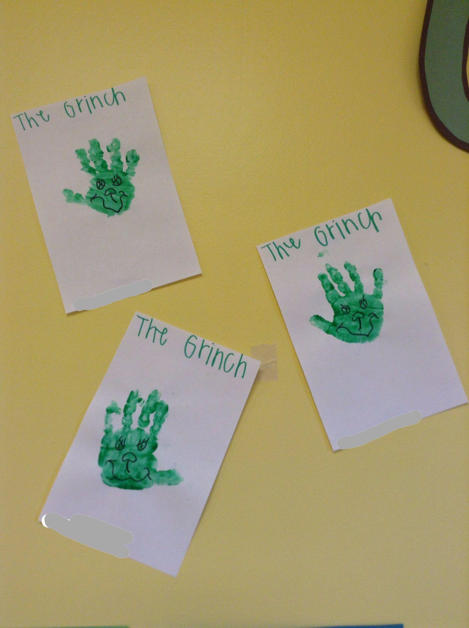The Grinch Handprints