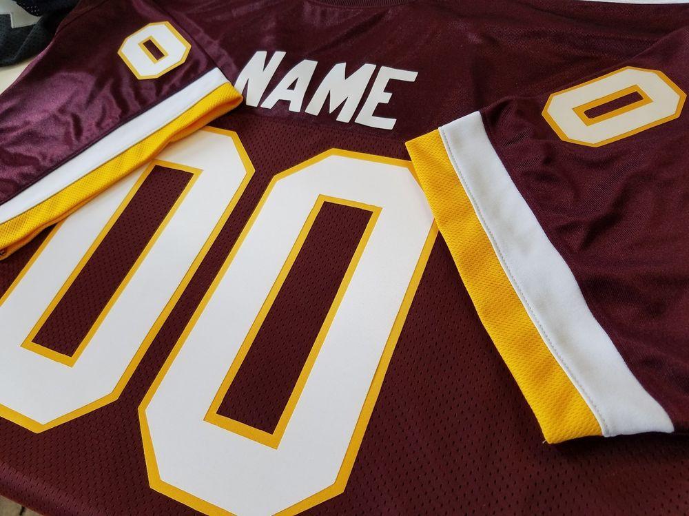 quality design 371fa 1eedc 00 Washington Custom Football Jersey Your NAME-Number-Sewn ...