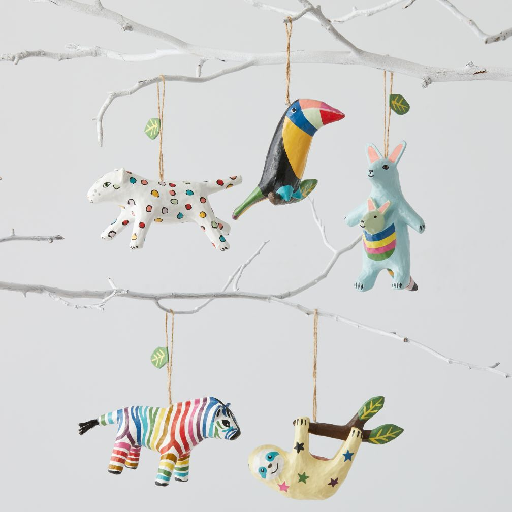 Shop Colorful Animal Ornaments. Bring a wildly colorful look to your tree  with our animal Christmas ornaments. With designs that include a toucan,  tiger, ...