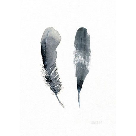 """Artprint - """"Zwei Federn"""""""