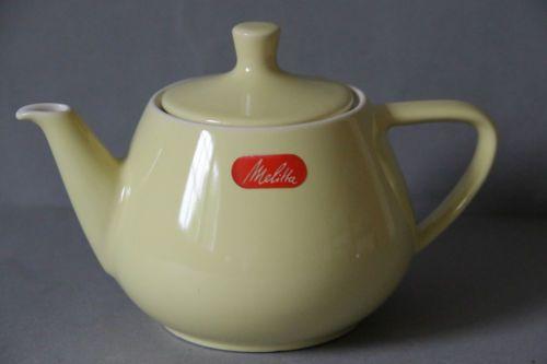 Melitta Minden Teekanne Kanne gelb TOP-Zustand TK2 | eBay   Inhalt: ca. : 0,6 Liter, Höhe: ca. 13,5 cm