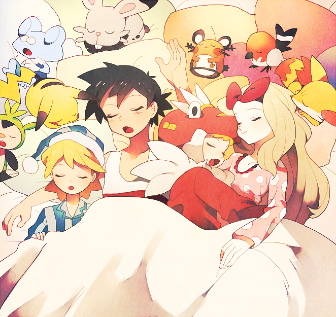 Beautiful ♡ Ash and Pikachu with their Kalos friends ^.^ ♡