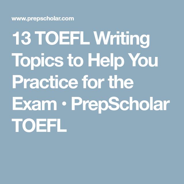 toefl writing subjects