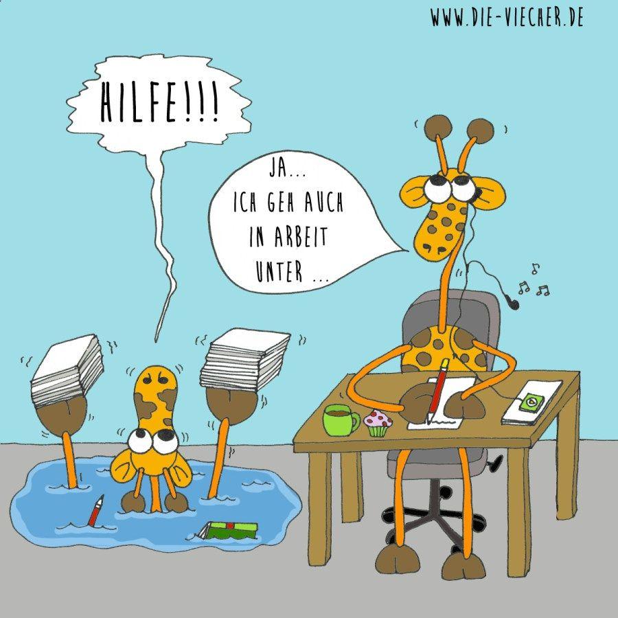 @DieViecher , Cartoon , Comic , Giraffe , Giraffen , www ...
