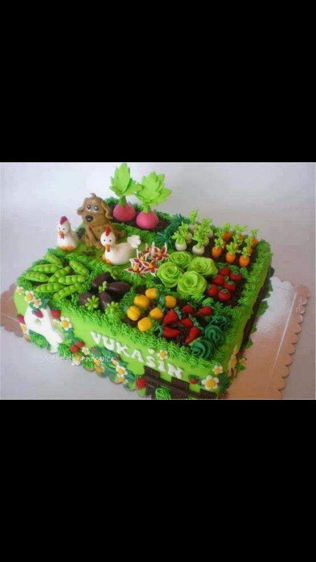 Im Garten Beete Bauernhoftorte Themenbezogene Torten Gartenkuchen
