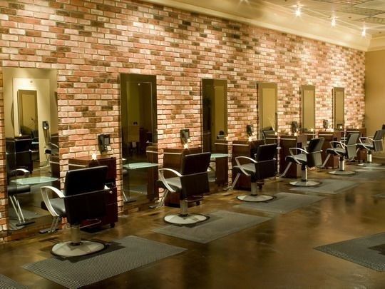 salon with brick walls - Bing Images | Brick wall, Red brick ...