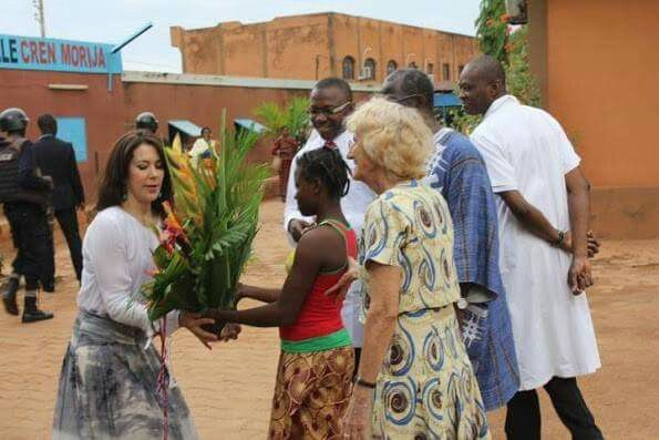 On the second day of visit of the Burkina Faso, Crown Princess Mary of Denmark visited the various charitable projects. The visit focuses on women's and girls' sexual and reproductive health and rights