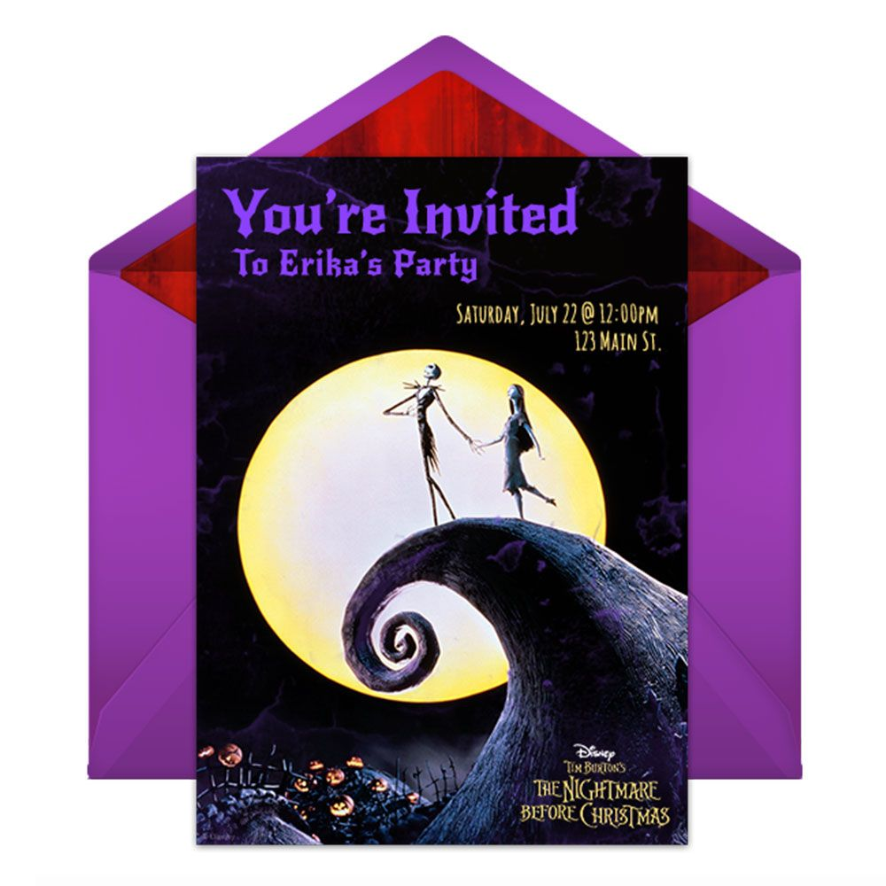 send this frightfully sweet free online nightmare before christmas party invitation and get ready to throw - Nightmare Before Christmas Wedding Invitations