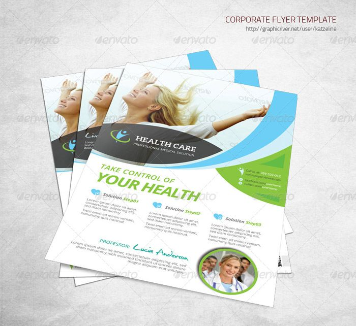Health Care Solution Business Flyer 宣傳冊設計 Pinterest - medical brochure template