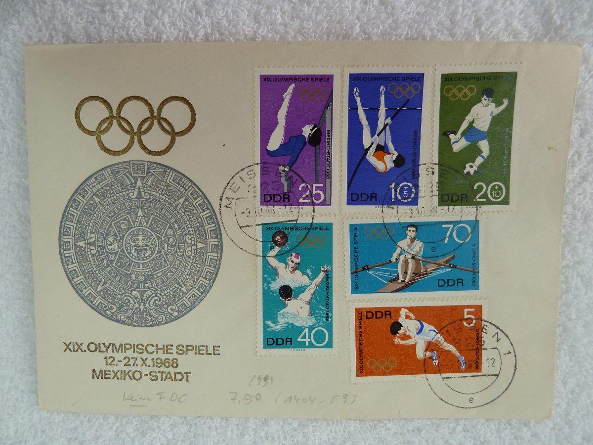 Estampillas Postales Juegos Olimpicos Mexico 1968 Estampillas