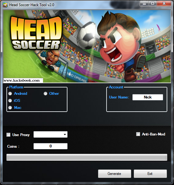 Hack Head Soccer Cheats Hack Tool No Survey Head Soccer Soccer Test Games