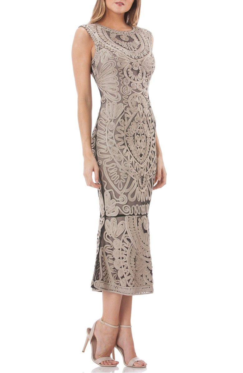 Mother of the bride wedding dresses nordstrom  Soutache Mesh Dress Main color Clay  engaged  Pinterest  Main