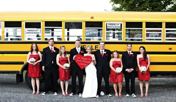 A C S Fall Wedding Sara Marie Photography Www Facebook Saramariefotography School Bus Bridal Party Purple Pinterest