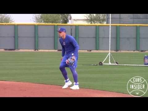 Javy Baez 2b Fielding Practice Youtube Baseball Drills Baseball Outfit Spring Training