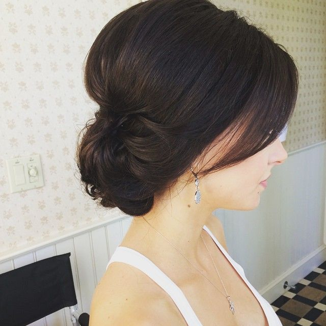~  we ❤ this! moncheribridals.com #weddingupdo