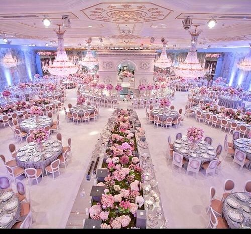 Magical Wedding Decoration Flowers White Pink Wedding Fancy Classy Party D Paris Theme Wedding Indoor Wedding Ceremonies Wedding Ceremony Decorations
