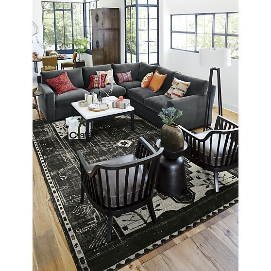 crate and barrel living room ideas. axis sectional crate and barrel - google search living room ideas