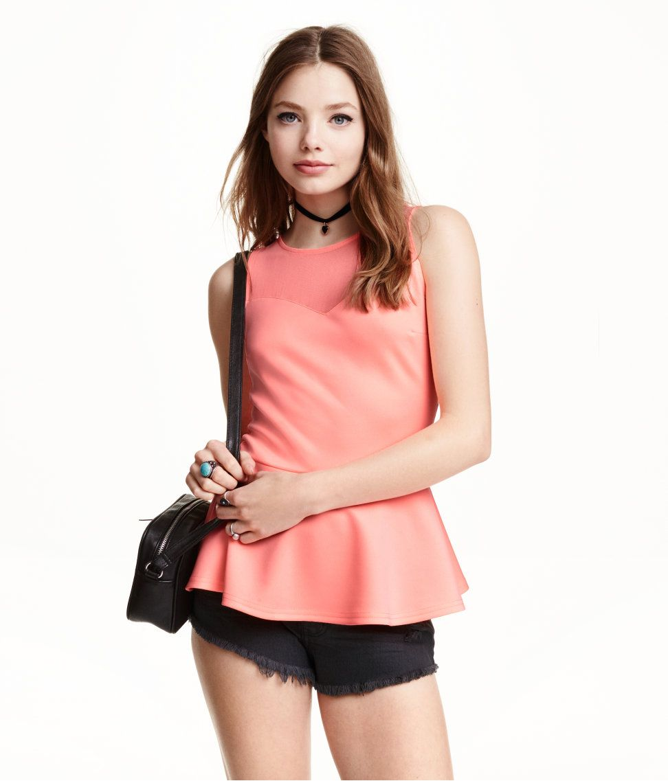 Peplum Top   H&M saved by #ShoppingIS   Collections by ShoppingIS ...