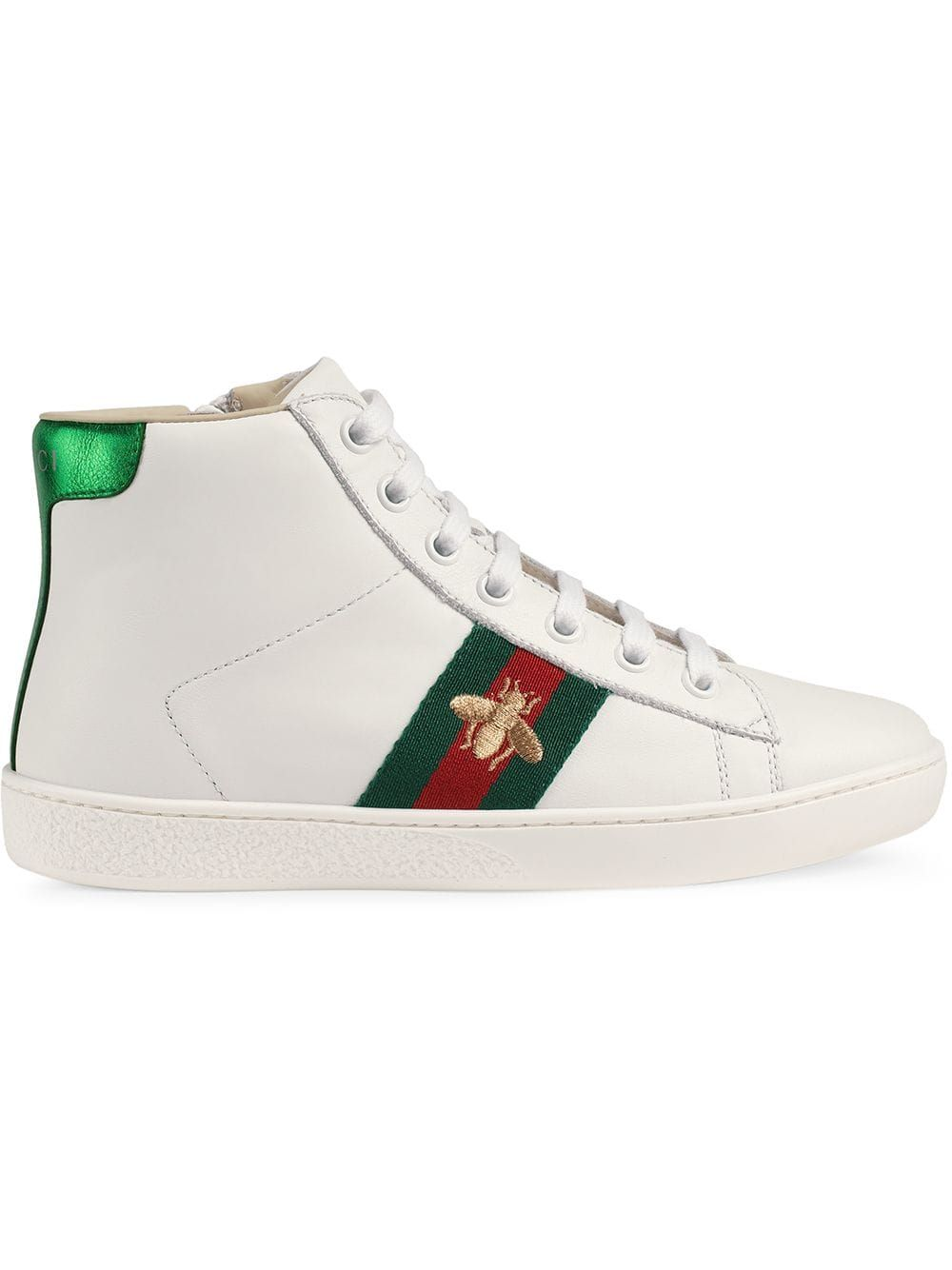 GUCCI CHILDRENS LEATHER HIGHTOP SNEAKER