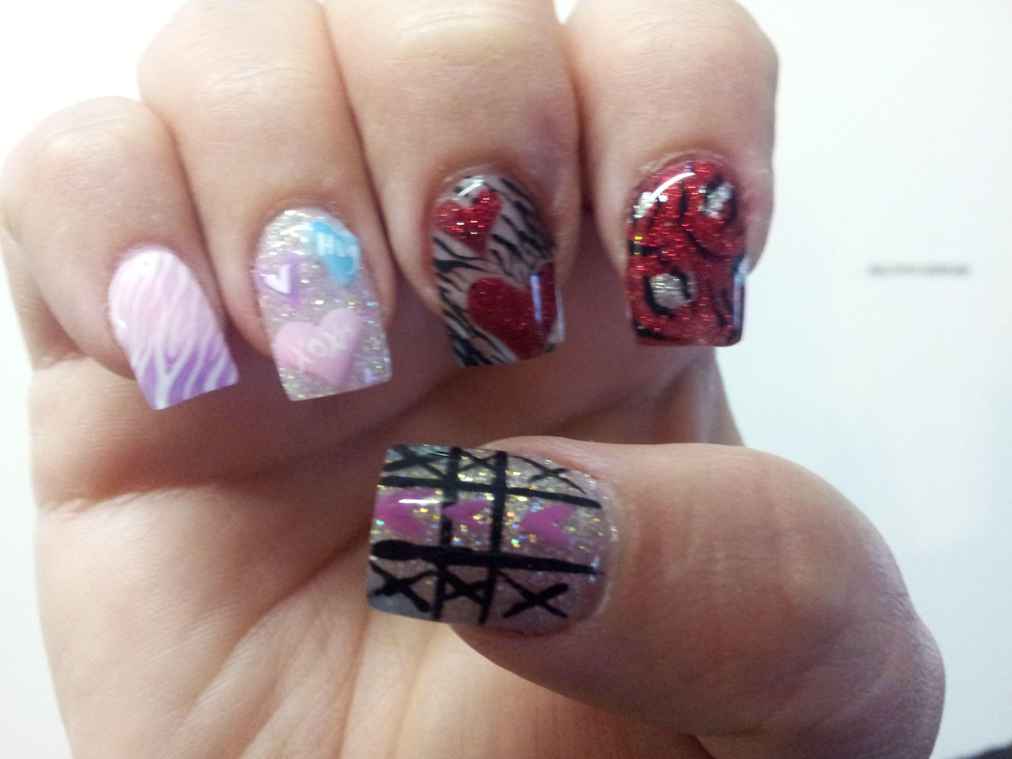 Valentines  Nails '13 #2