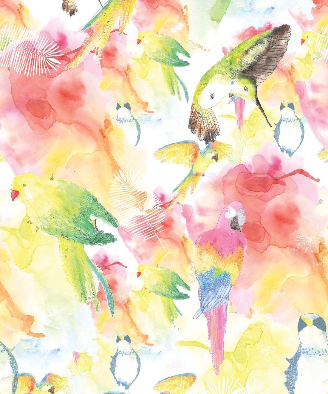 Watercolor Birds The Ultimate Tropical Bird Wallpaper In 2020 Watercolor Bird Watercolor Wallpaper Bird Wallpaper